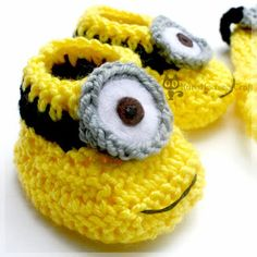 KuroHouse of Craft: Minion Baby Hat & Booties, Dave, Lance & Jerry (Despicable Me)