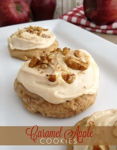 Caramel Apple Cookies - This recipe is super easy and the taste is AMAZING. I get asked for these from everyone!