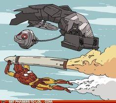 Batman-and-Ironman saving the world Christian Bale, Marvel Vs, Marvel Comics, Comic Art, Comic Books, Robert Downey Jr., Ironman, Im Batman, Funny Batman