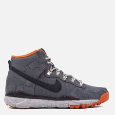 best authentic b0c4c 312e1 Nike SB x Poler Dunk High RR - Dark Grey Black Wolf Grey University Or –  Commonn   Tags  sneakers, high tops, gray, orange, speckled, white sole