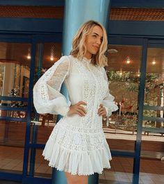 Cute Dresses, Dresses With Sleeves, Lace Wedding, Wedding Dresses, Foto E Video, Ideias Fashion, Fashion Beauty, Instagram, Long Sleeve
