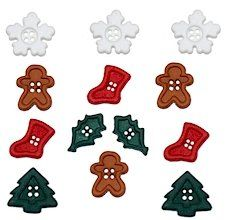 Snow DRESS IT UP Buttons Flurries  2964 Christmas Xmas Snowflakes