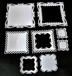 Spellbinders Captivating Squares Die Cut Topper shape, Embellishments. Stunning! | eBay