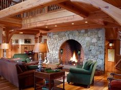 Call The Kids Down From Upper Loft For Story Time Beside A Large Wood Burning