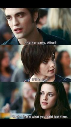 Eclipse ~ Edward, Bella and Alice Twilight Jokes, Twilight Saga Quotes, Twilight Saga Series, Twilight Edward, Twilight New Moon, Twilight Series, Twilight Movie, Harry Potter Twilight, Edward Bella