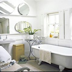 Use multiple mirrors instead of just one.   27 Clever And Unconventional Bathroom Decorating Ideas