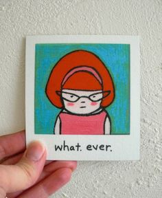 Funny Magnet Redhead Retro Inspired Whatever by SimplyCutebyKarin, $6.75
