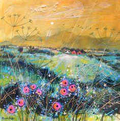 "Deborah Phillips Title : Balmy Evening Weeds Size : 18"" x 18"" image size"