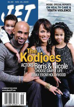 Boris and Nicole Kodjoe with family. jet magazine covers