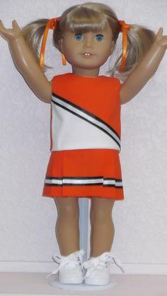 American Girl doll clothes  Orange Cheerleader & by susiestitchit, $18.50