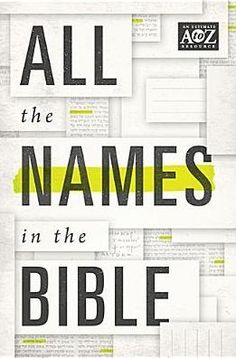 Even the most savvy Bible scholar will admit that it can be challenging to learn all the names in the Bible. This comprehensive resource lists every person and place mentioned in the Bible and cites helpful information,including the pronunciation of the name, the Greek or Hebrew meaning of the name, a paragraph of description, and a list of Scripture passages where the name is found.