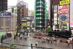 Shimbashi Train Station Square