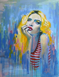 http://emmauber.tumblr.com/ Another gorgeous portrait painting, one day I will buy one.