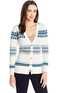 Pendleton Women's Stripe Cardi Sweater, Ivory/Multi, X-Small ❤ Pendleton Women's Collection