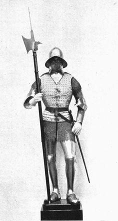 Spanish halberdier, XV century