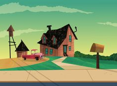 Bradley Gake - Animation Backgrounds