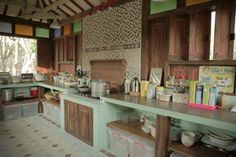 "Kitchen in Roemah Pulomanuk. ""Never thought joglo (traditional Javanese house) can be this modern and chic"""