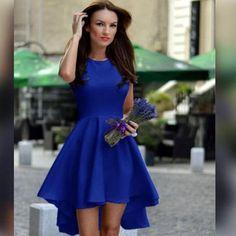 Pure Candy Color Irregular High Waist Short Dress - Meet Yours Fashion - 1