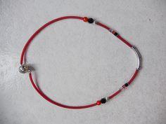 collier PVC avec pièce central en argent, perles swaroski et murano