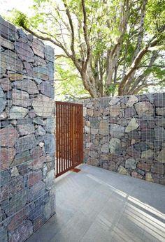original diseño de muro de piedras