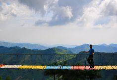 """Island in the Sky"" Hanging Bridge, Cebu, Philippines"