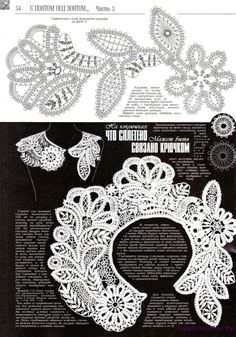 This Pin was discovered by Jut Crochet Lace Collar, Crochet Cross, Crochet Chart, Filet Crochet, Irish Crochet Patterns, Basic Crochet Stitches, Lace Patterns, Crochet Designs, Freeform Crochet
