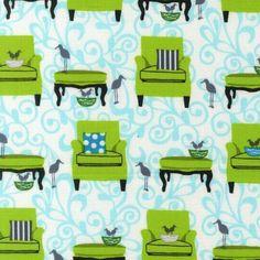 Tissu PATCHWORK PERFECTLY PERCHED ROBERT KAUFMAN : Tissus pour Patchwork par…