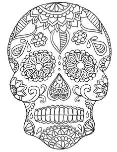Une tête de mort décorée de toile d'araignée et de roses