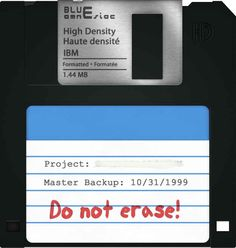 Saving all your files on a floppy disk