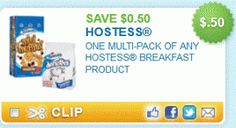 Save on Hostess Multi-Pack Breakfast Products