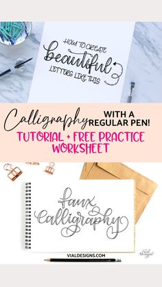 How To Do Calligraphy, Calligraphy Lessons, Calligraphy Writing, Calligraphy Alphabet, Hand Lettering Alphabet, Hand Lettering Quotes, Creative Lettering, Brush Lettering, Hand Lettering For Beginners