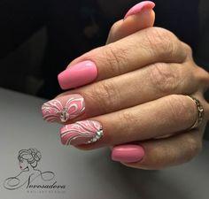 Нетипичный Маникюр Flower Nails, Nail Flowers, Pedicure Nails, Pedicures, Airbrush Nails, Pink Nails, Nail Designs, Nail Art, Hand Painted