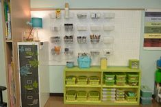Your Teacher's Aide: Before and After: Pegboard Storage Wall Classroom Layout, Classroom Setting, Classroom Design, School Classroom, Classroom Decor, Future Classroom, Infant Classroom, Science Classroom, Pegboard Organization