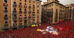 Bull Run Spain : Thousands of Spaniards and tourists gathered in the streets of Pamplona, Spain on Sunday to celebrate the start of the famed San Fermin bull-running fest.