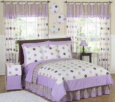 Sweet Jojo Designs Purple Mod Dots Children's Bedding Set