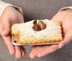 [iPhone 7専用]食品サンプルカバー(和栗モンブラン)