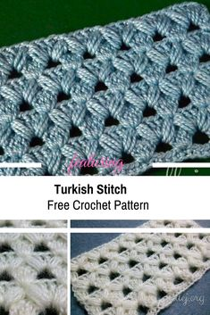 Turkish Crochet Stitch Free Pattern & Video Tutorial bir Türk ilmek örneği daha