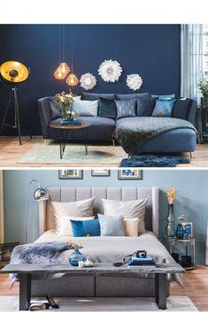Aber welche Farbe solltest du für deine Wände wählen? Ist es nicht besser, diese weiß zu lassen? Nicht unbedingt! Verschiedene Farben bringen auch verschiedene Stimmungen mit sich. Was im Wohnzimmer passt, gehört nicht unbedingt ins Schlafzimmer oder andersherum. Wie viel Farbe verträgt ein Zuhause überhaupt? Sollte man jede Wand andersfarbig streichen? Bedroom, Living Room, Matching Colors, Paint, Ad Home, Nice Asses, Ideas
