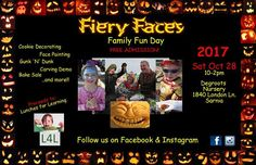 Fiery Faces Spooky family fun!