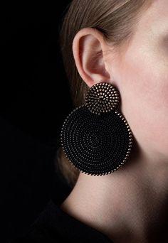 Circle Earrings Round Earrings Ethnic Earrings Disc Earrings Geometric Earrings Clip On Earrings Indian Jewelry Earrings, Jewelry Design Earrings, Ear Jewelry, Beaded Earrings, Fashion Earrings, Etsy Earrings, Clip On Earrings, Beaded Jewelry, Fashion Jewelry