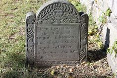 puritan gravestone art | the oldest headstone is of dorthy cromwell who died in 1673