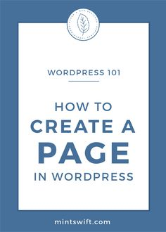 A step-by-step tutorial on how to create a page in WordPress. Learn how to add a new page to the menu, how to design it and how to publish the WP page Business Checks, Business Tips, Online Business, Blog Website Design, Wordpress Website Design, Blog Categories, Online Marketing, Media Marketing, Business Motivation