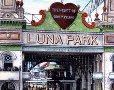 Popular items for luna park on Etsy