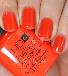 CND Electric Orange | Summer 2014 Paradise Collection | Peachy Polish