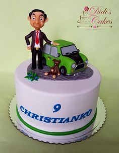 Bean cake - cake by Didis Cakes - CakesDecor Mr Bean Cake, Bean Cakes, Fondant Figures, Fondant Cakes, Cakes For Men, Cakes And More, Mr Bean Birthday, Animal Birthday, Ms Bean