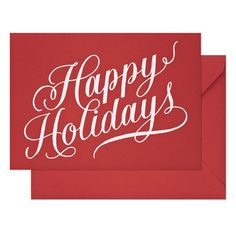 Fab.com | Sugar Paper: Red Holiday Cards Set Of 6