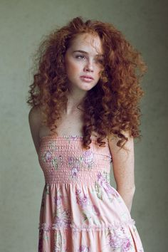 This is how I picture Mala's cousin, Dena Acker. Wild curls, sweet, yet fiesty disposition.