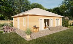House Plan 96234 - Contemporary, Ranch, Traditional Style House Plan with 896 Sq Ft, 1 Bed, 2 Bath Best House Plans, Small House Plans, House Floor Plans, Contemporary Style Homes, Contemporary House Plans, Contemporary Design, Bungalows, Greys Anatomy Br, Cottage Plan