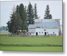 Horse On The Barn Metal Print by Bonfire #Photography