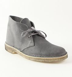 grey clarks desert boot
